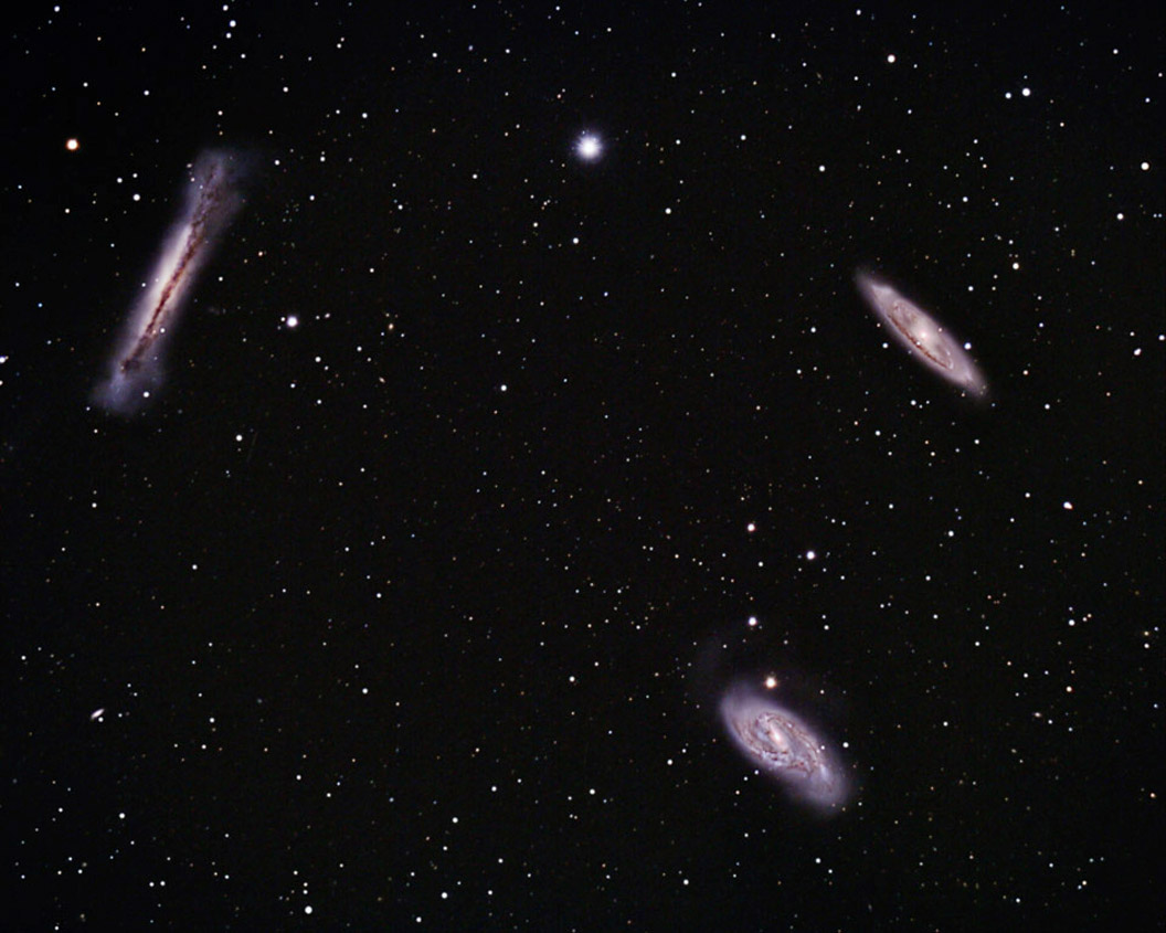 Deep Sky Objects - Leo Triplet NGC3628 M65 M66